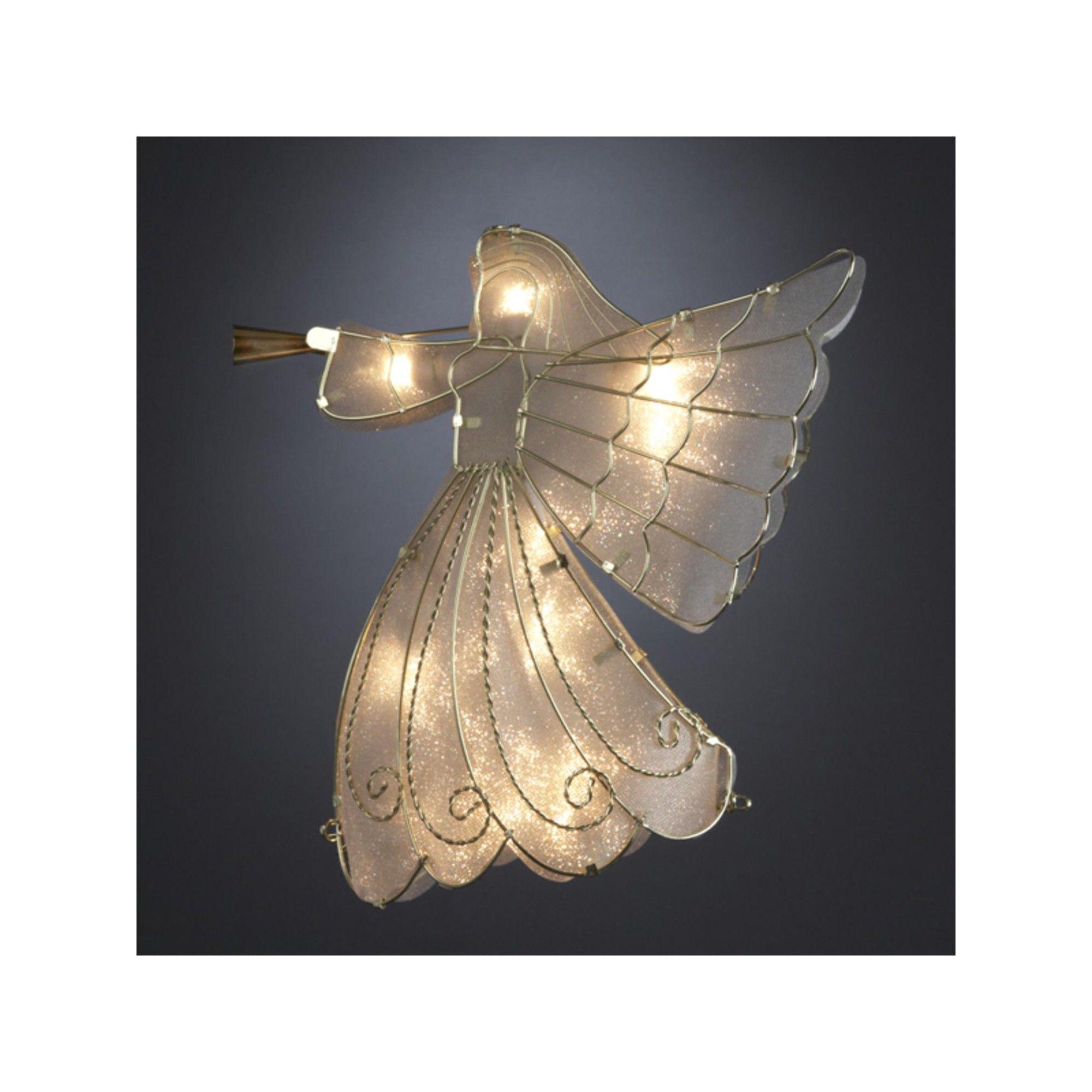 Kurt Adler 9.5 Lighted Gold Angel Silhouette Christmas