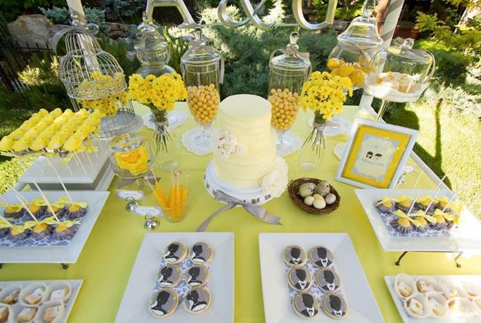 Party table decorating ideas how to make it pop dessert table yellow weddings party table decorating ideas how to make it pop junglespirit Images