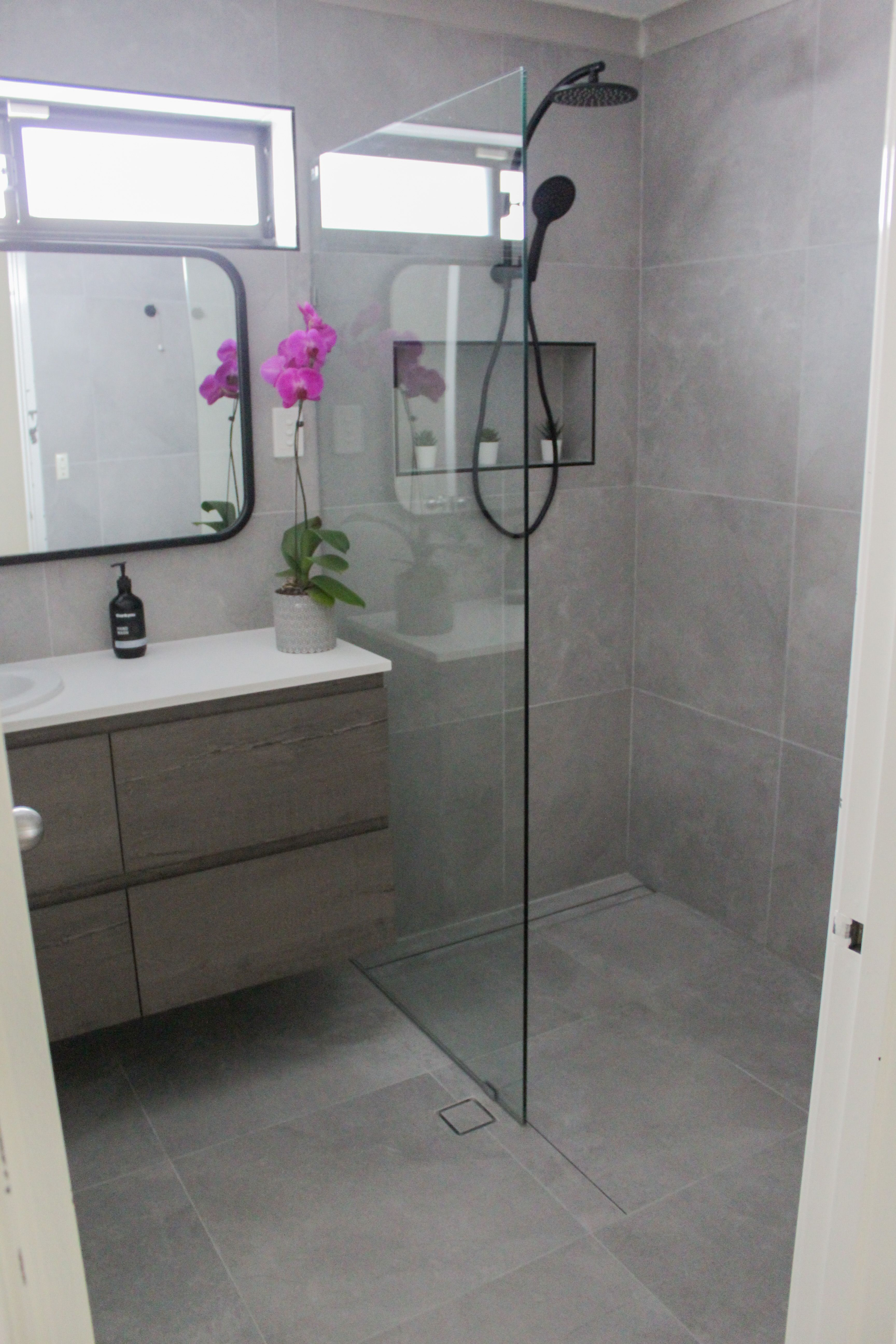 Walk In Shower Bathroom Renovations Wall Hung Vanity Small Bathroom Renovations