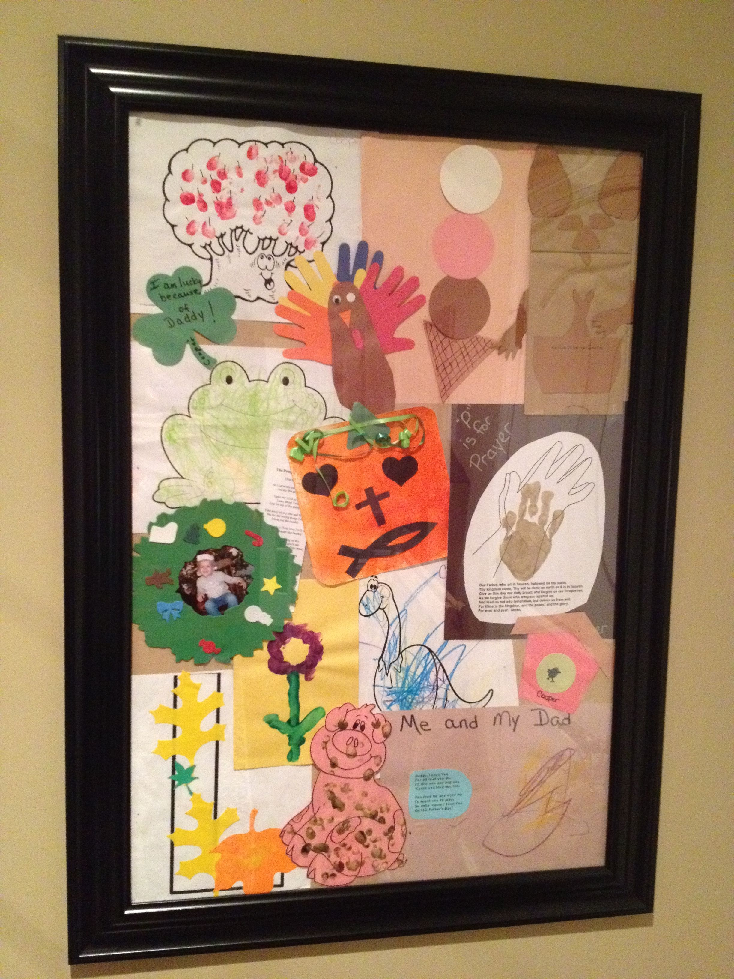When you want to display kids artwork! This is an inexpensive poster ...
