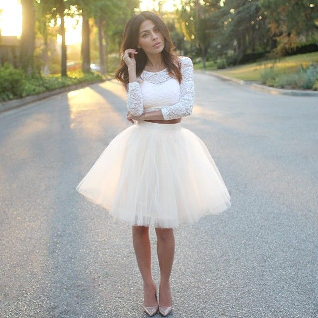 a57359e21 Space 46 Boutique Ivory XS 25in skirt!! Eeekk I must have before Paris!! @ space46boutique | Websta