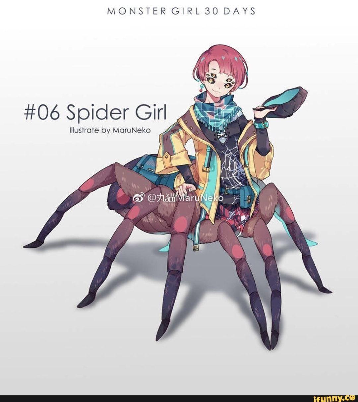 Monster Girl 30 Days 06 Spider Girl Illustrate By Moruneko