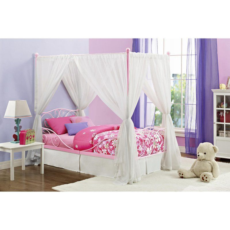 Dhp Canopy Twin Metal Bed Products Twin Canopy Bed Metal