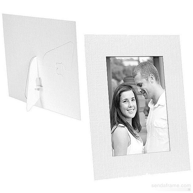 White Paper Cardstock Photo Easel 4x6 Frame W X2f Plain Border Sold In 25s Picture Frames Photo Album Cardboard Picture Frames Digital Photo Gift 4x6 Frames