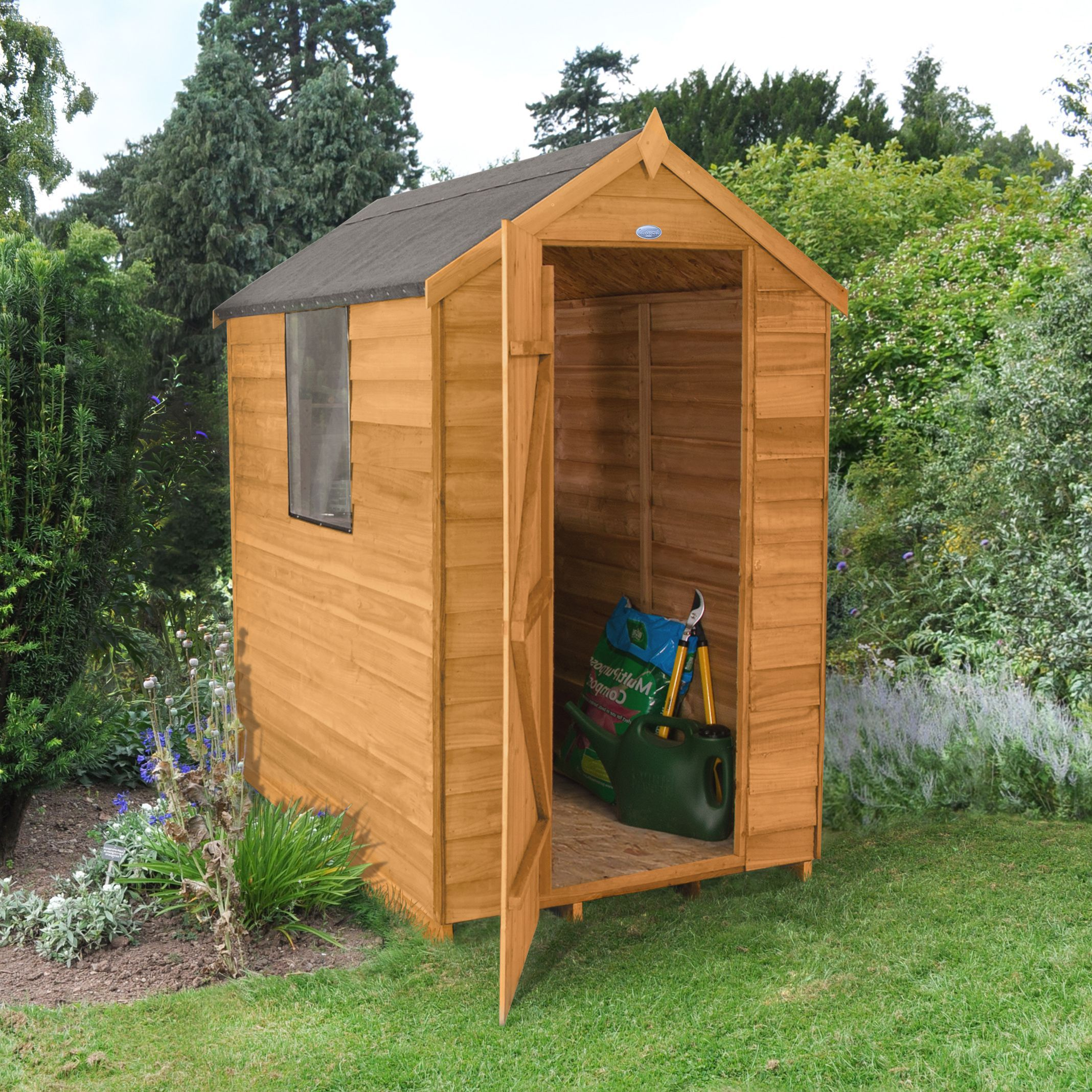 Forest 6X4 Apex Overlap Wooden Shed | Departments | DIY at B&Q