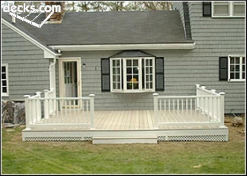Low elevation deck picture gallery outside projects for Low elevation deck plans
