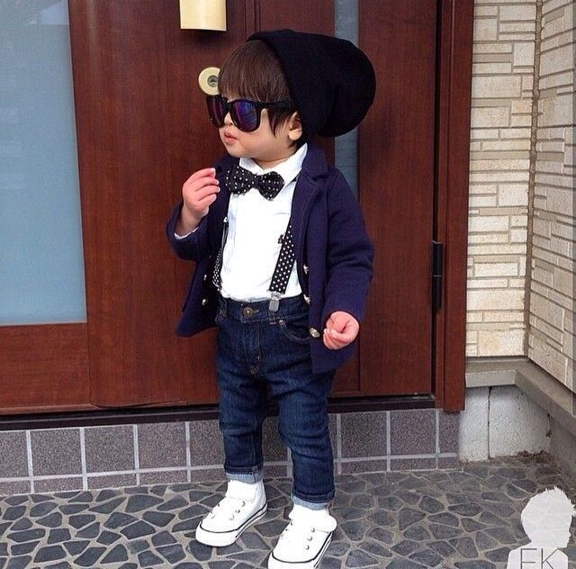 Beanie Converse And Suspenders For A Little Boy Cute