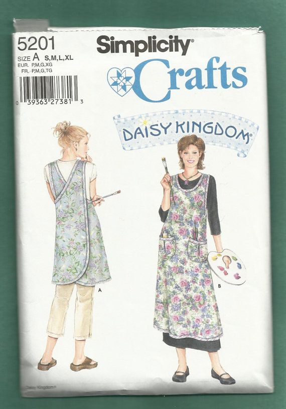 Simplicity 5201 Daisy Kingdom Artist Smock or Jumper Sizes S-XL in ...