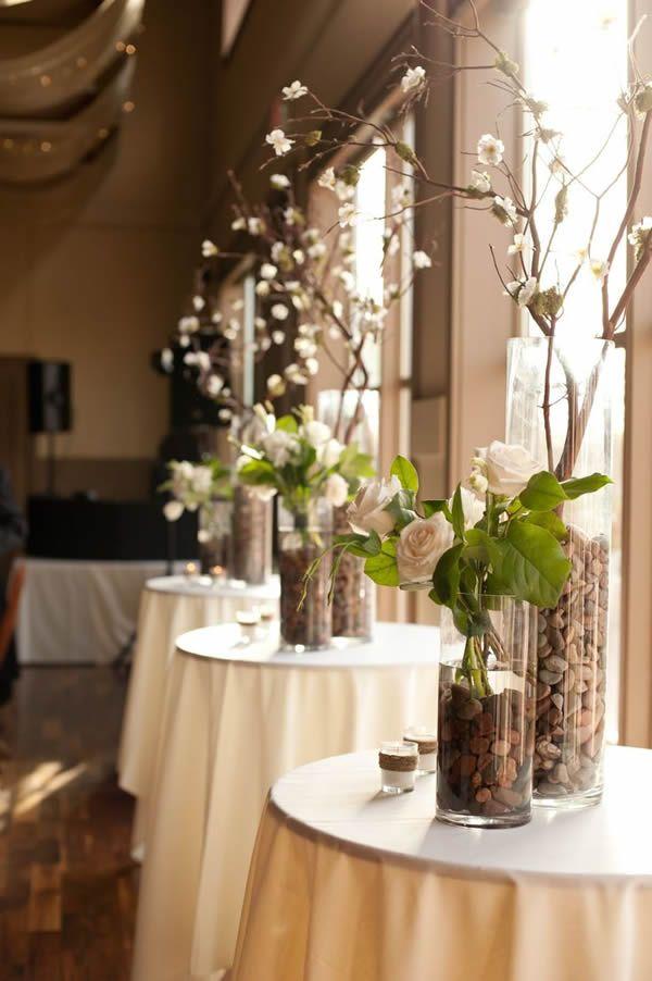 Centros de mesa para bodas con rocas adornos de mesa - Centros de mesa elegantes ...
