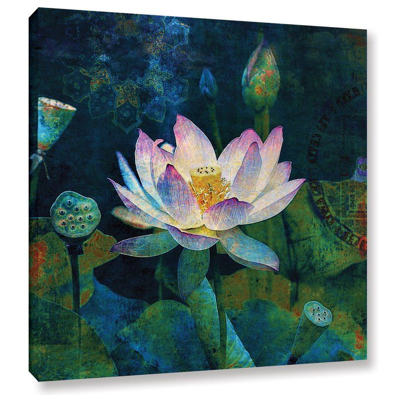 Beautiful Lotus Flower Canvas Wall Art Picture Print ~ More Size