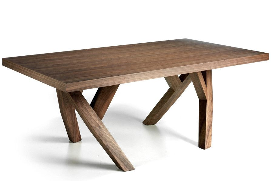 table rectangulaire design bois noyer