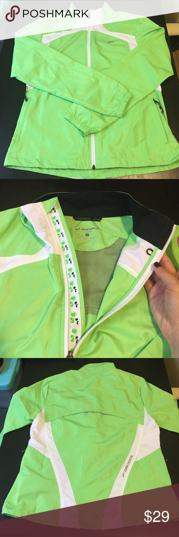 Brookes Running Jacket Brooks Shelter Technology 100 Polyester Worn Once Brooks Jackets Coats Running Jacket Clothes Design Jackets