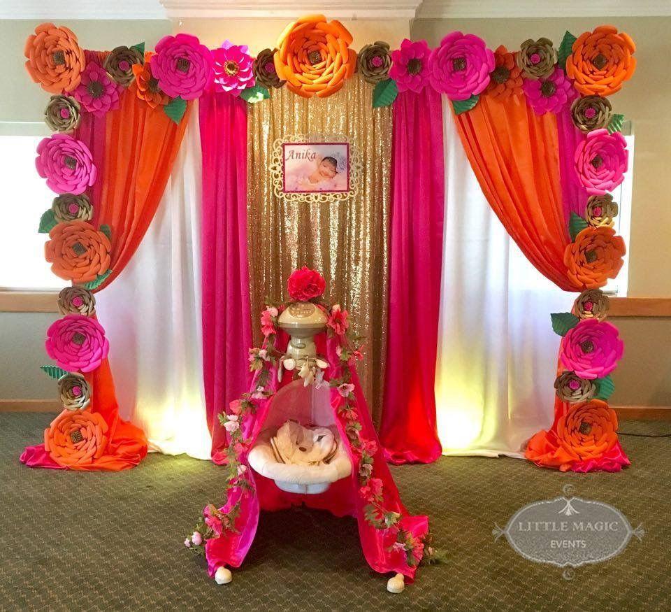 Pin By Kavya Gupta On Ganesh Chaturthi Decor Baby Shower Return Gifts Cradle Ceremony Naming Ceremony Decoration