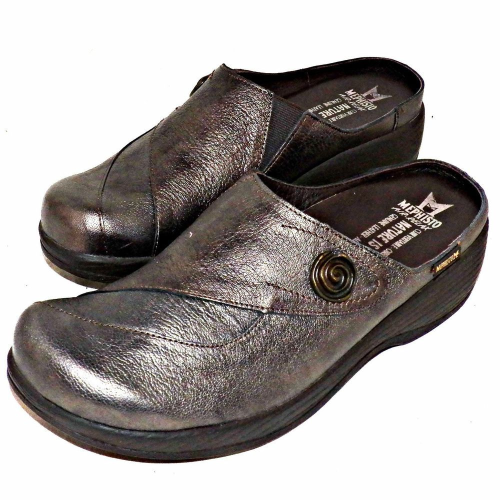 8042e8b19b5 Mephisto Grace Bronze Perlskin Metallic Leather Air Relax Clog Mule US 9.5  EUR40  Mephisto  Clogs  Casual