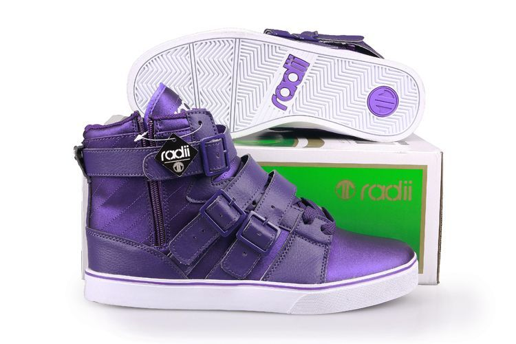 Radii Straight Jacket Purple Satin Hi Tops