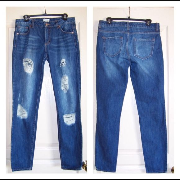 Forever 21 Denim Distressed Skinny JEANS size 28 Excellent Condition! Forever 21 Jeans Skinny