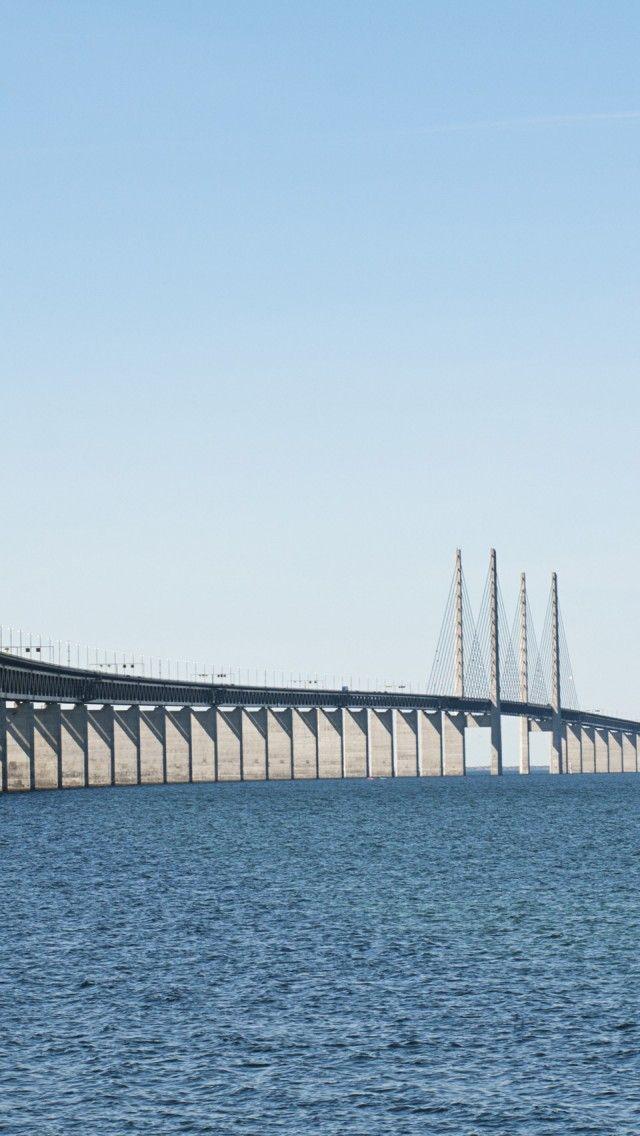 Oresund Bridge Malmo Sweden Iphone 5 Wallpapers Backgrounds 640