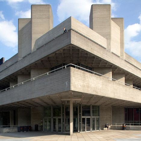 Brutalist buildings national theatre london by denys for Architecture brutaliste