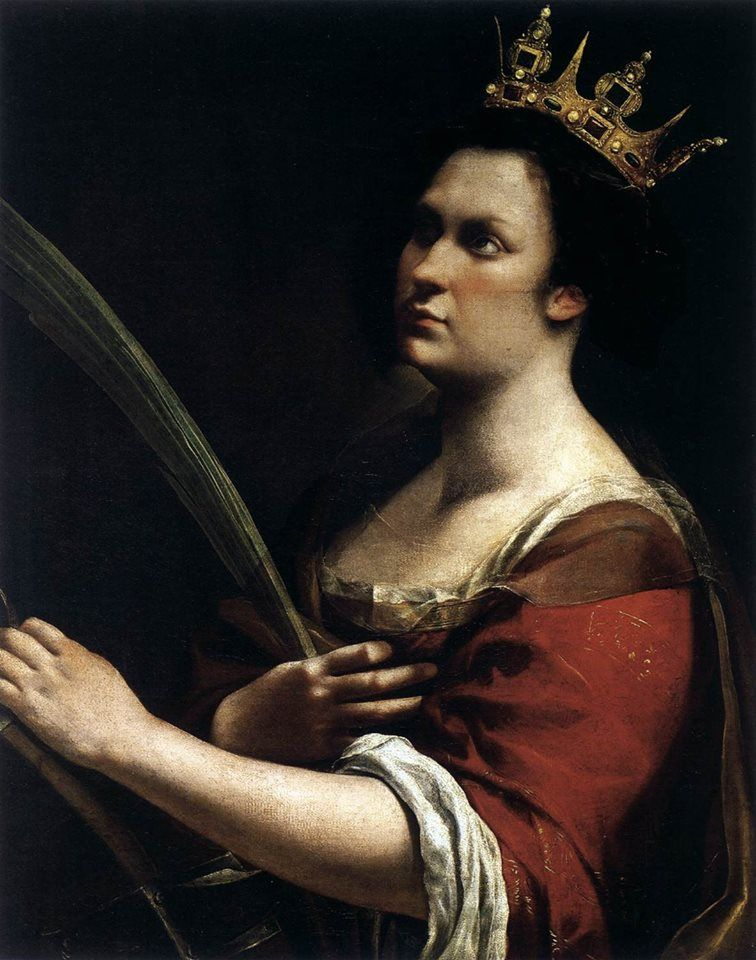 Santa Caterina d'Alessandria, opera di Artemisia Gentileschi (1615 circa; Firenze, Galleria degli Uffizi)