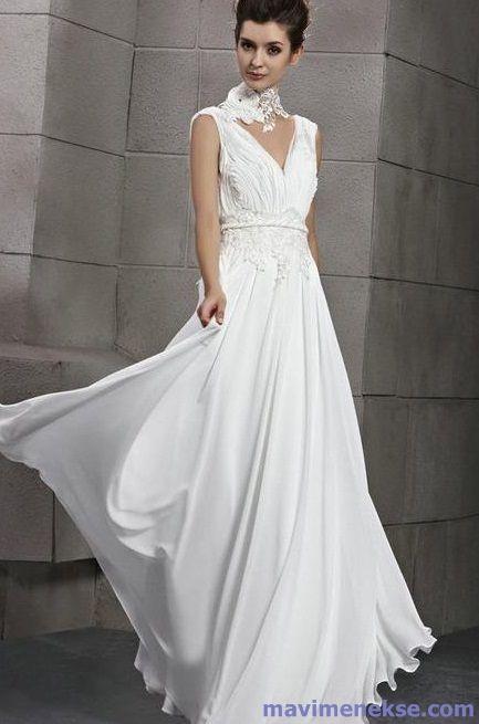 Beyaz Uzun Elbise Modelleri Kadin Ve Moda Beyaz Balo Elbisesi Balo Elbiseleri The Dress