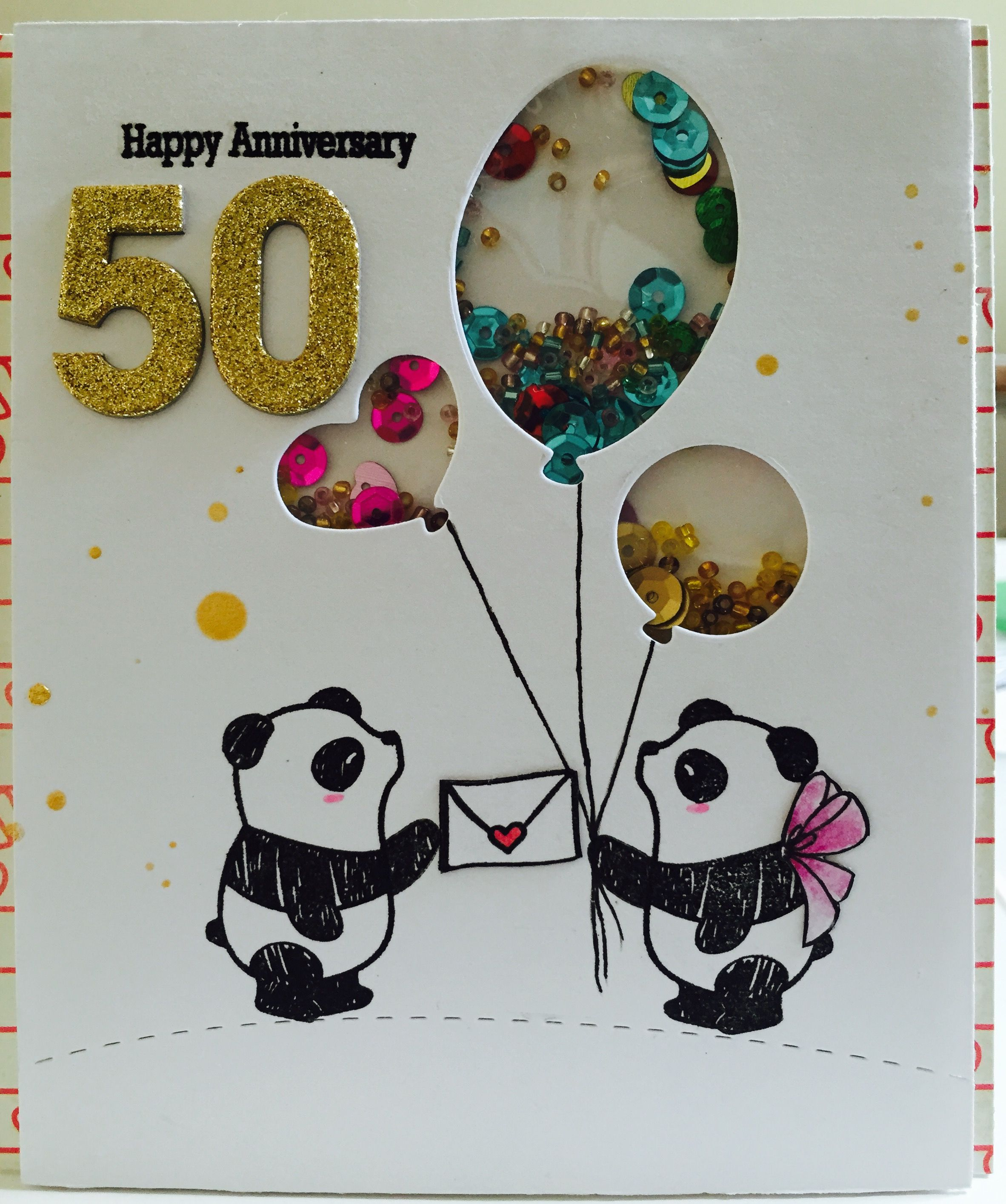 Anniversary card made for my parents. Wishing them happy