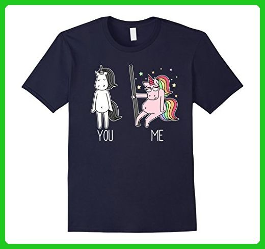 Mens Unicorn Dancing Pole T-shirt Fabulous Unicorn Small Navy - Fantasy sci fi shirts (*Amazon Partner-Link)