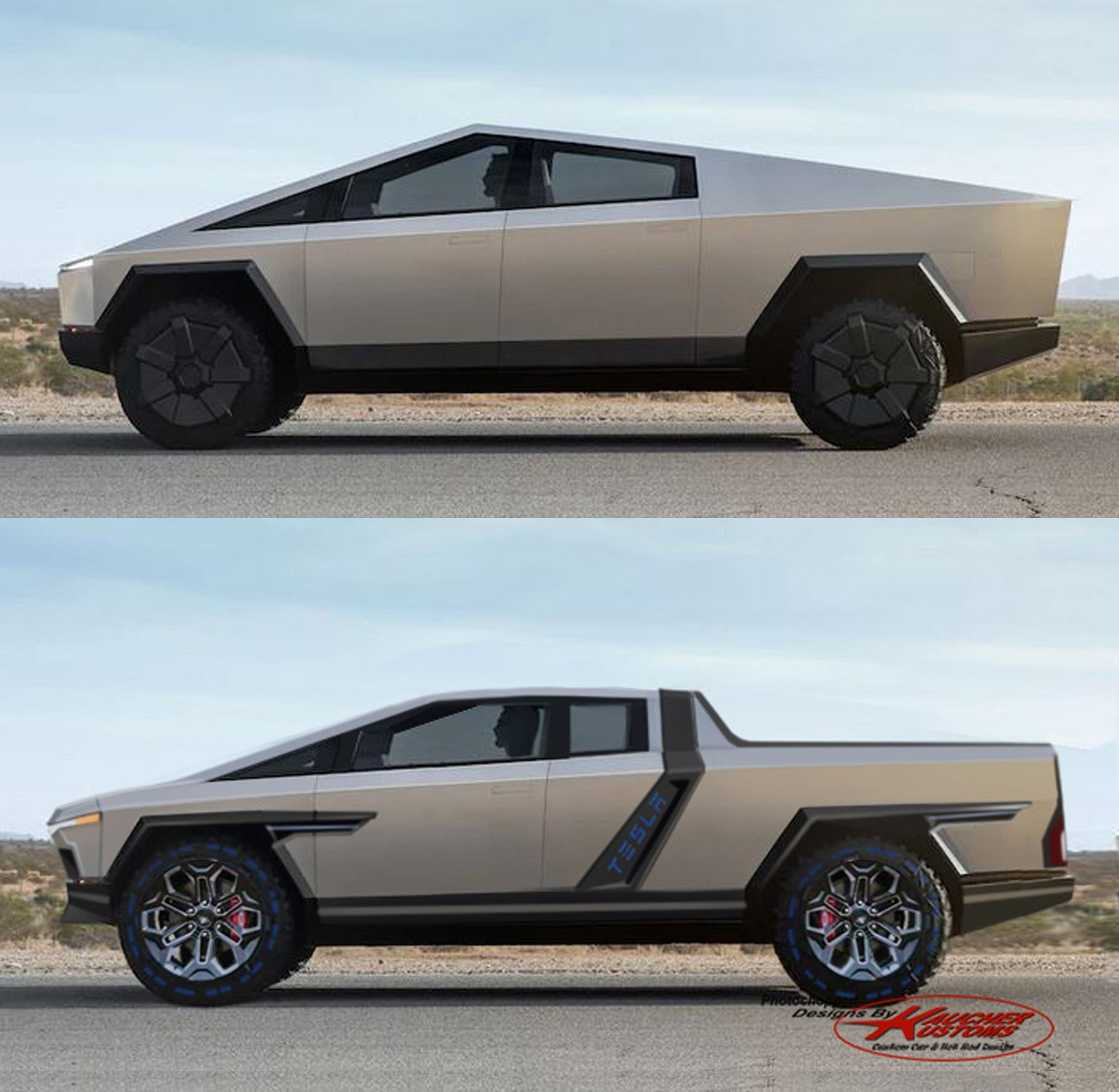 Kaucherkustoms Restyle Of The Tesla Cyber Truck Tesla Tesla Car Custom Cars