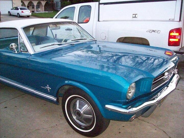 This Was My First Car 64 5 Mustang Blue Mustang Mustang Ford Mustang