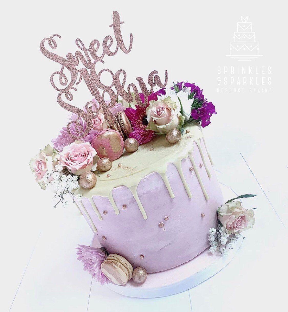 16th Birthday cake topper, sweet sixteenth birthday