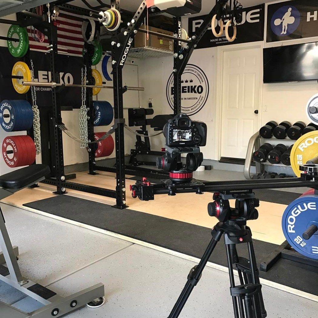 Powerlifting garage gym year of clean water