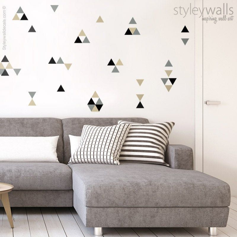 Triangles Wall Decal Triangles Pattern Wall Sticker Etsy In 2020