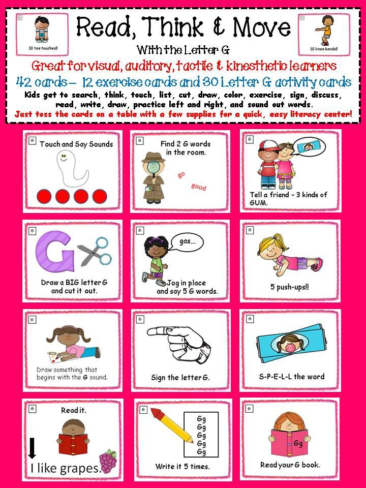 5 letter words beginning with ad alphabet activities letter sound task cards the letter g 16466
