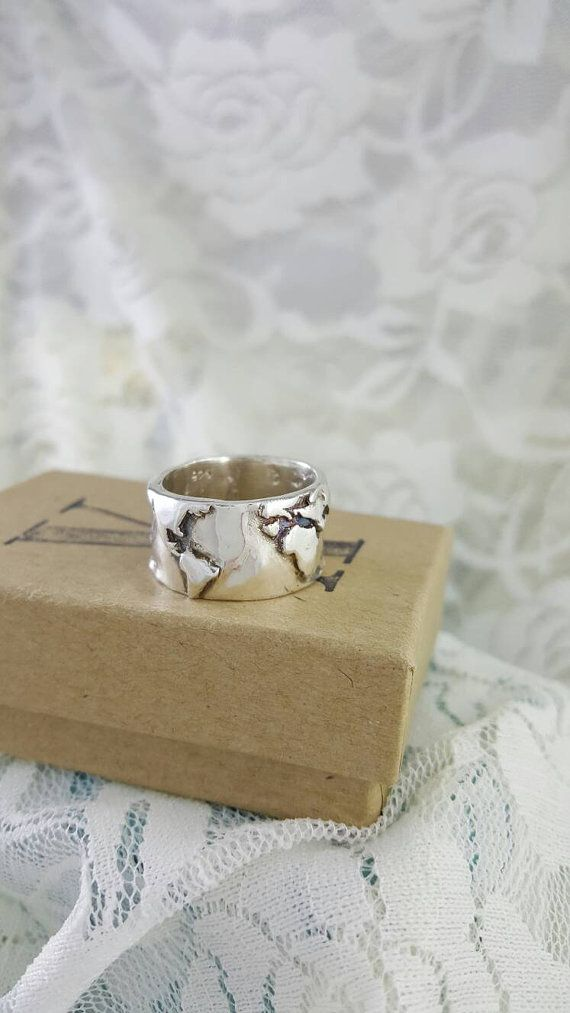 World map wide band ring in sterling silver world traveler world map wide band ring in sterling silver world traveler jewelry wanderlust ring world map ring world ring globe ring gumiabroncs Image collections