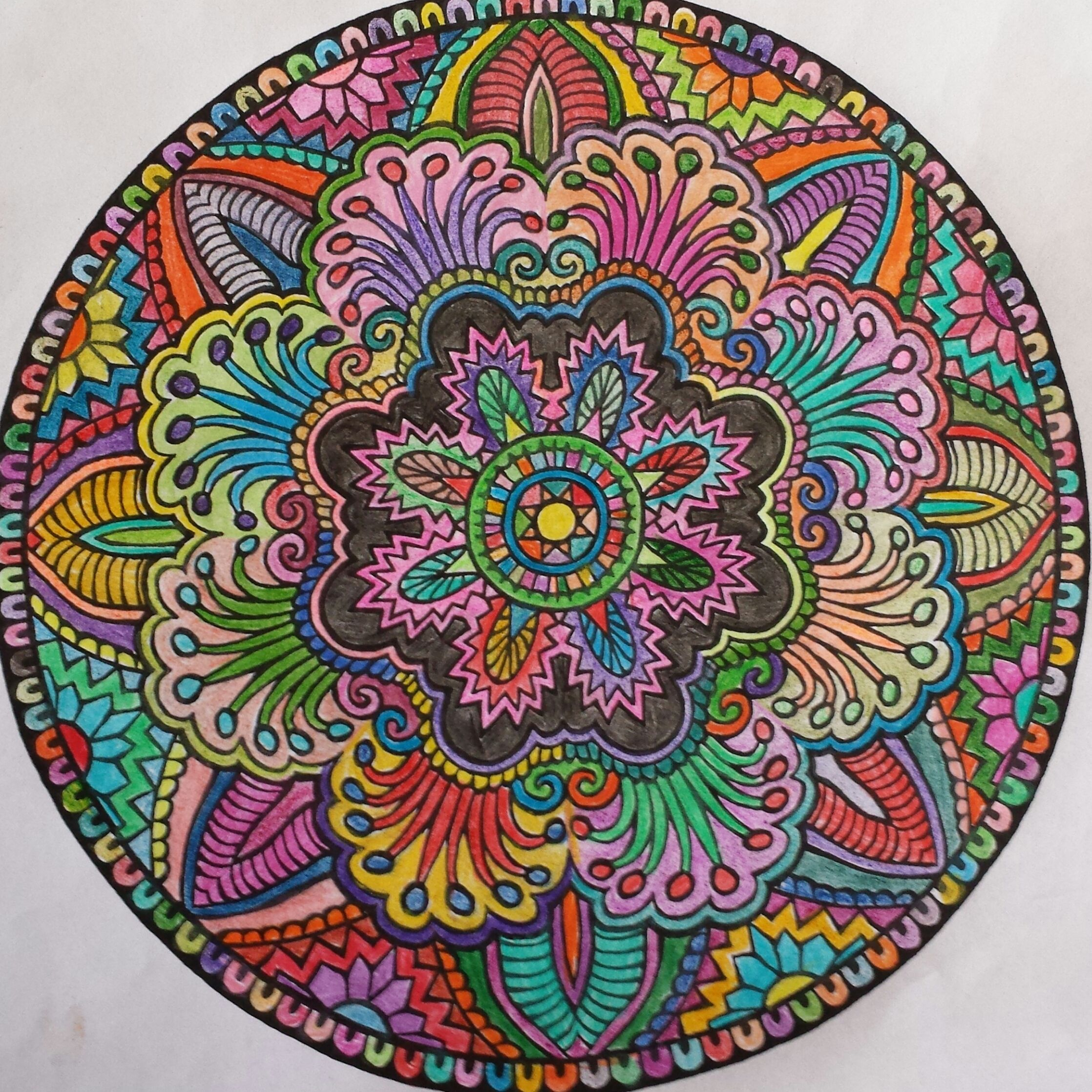 Mandala Colored Pencil 2014 My Creations In 2019
