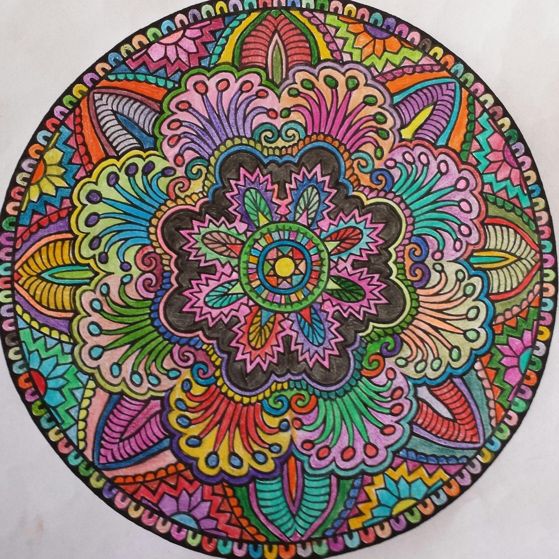 Mandala Colored Pencil 2014 Mandala Coloring Mandala Colored Pencils