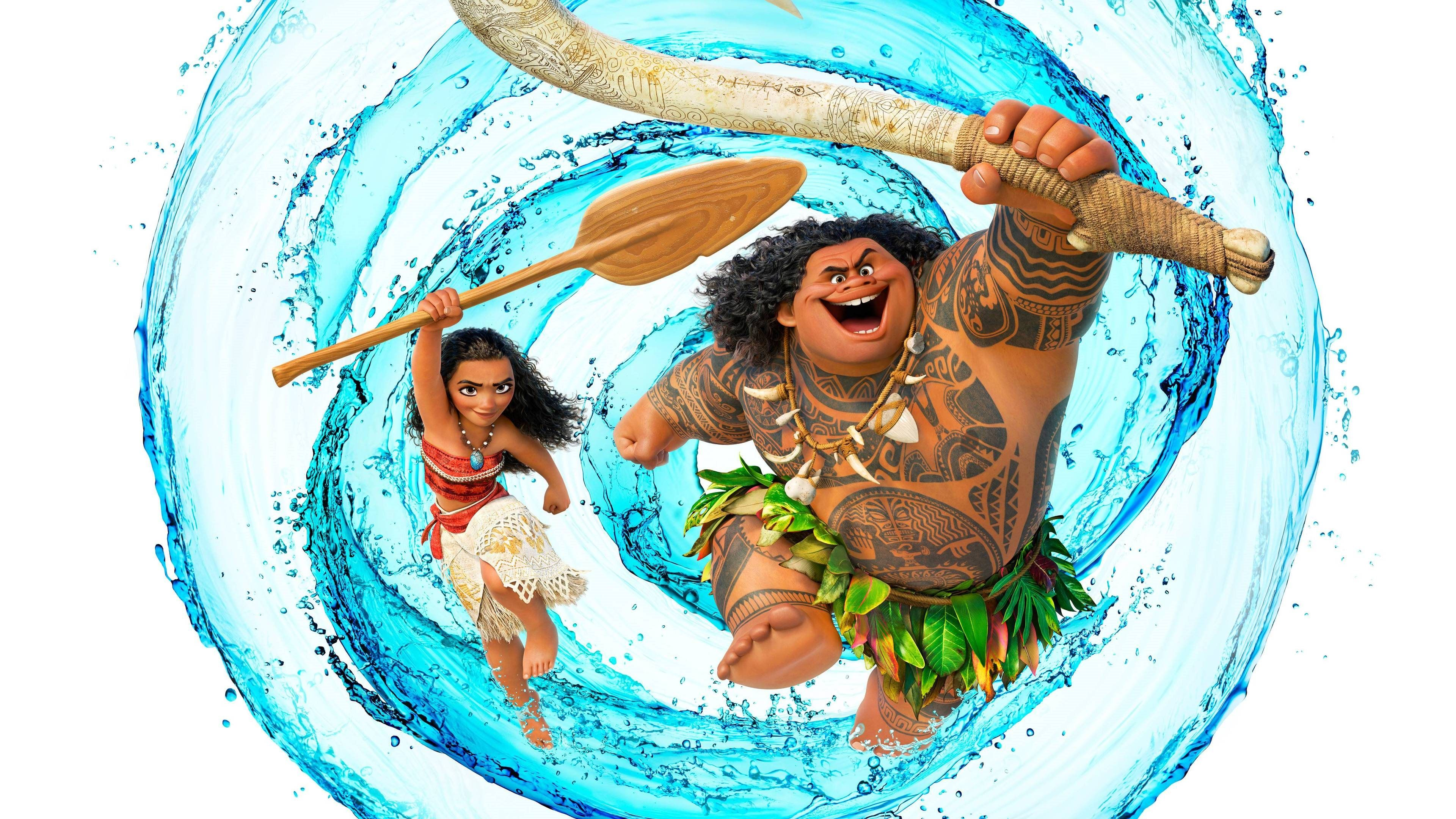 Download wallpapers Maui, Moana, 3danimation, 4k Moana