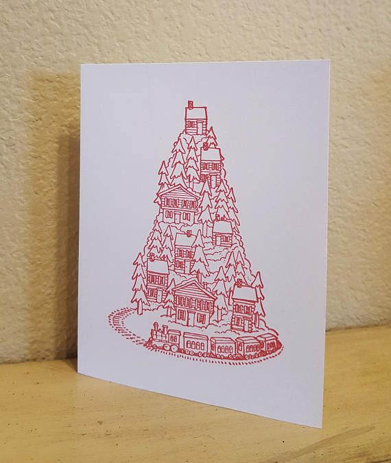 Simple yet festive cards that are blank inside so you can add your personalized message ...