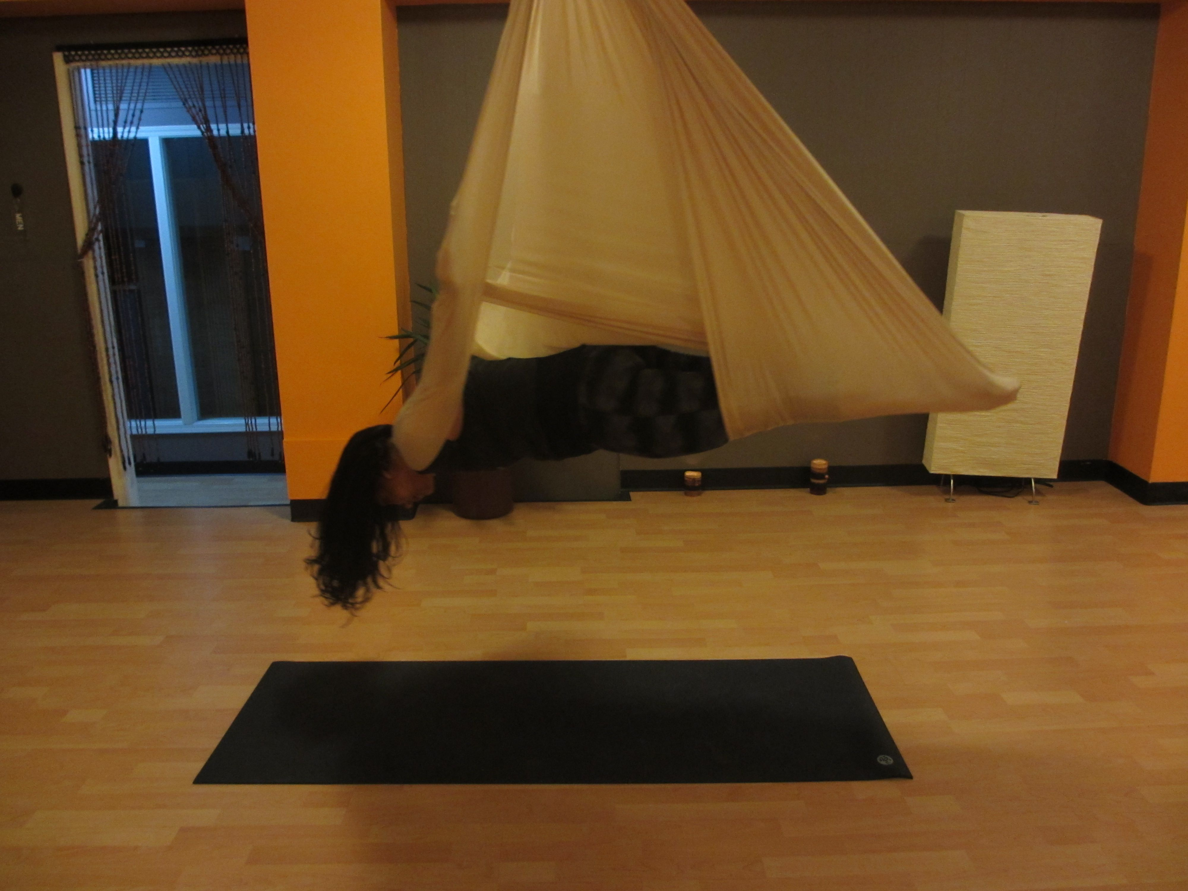 Want To Work On Your Core Muscles Try Vampire Pose In Aerial Yoga
