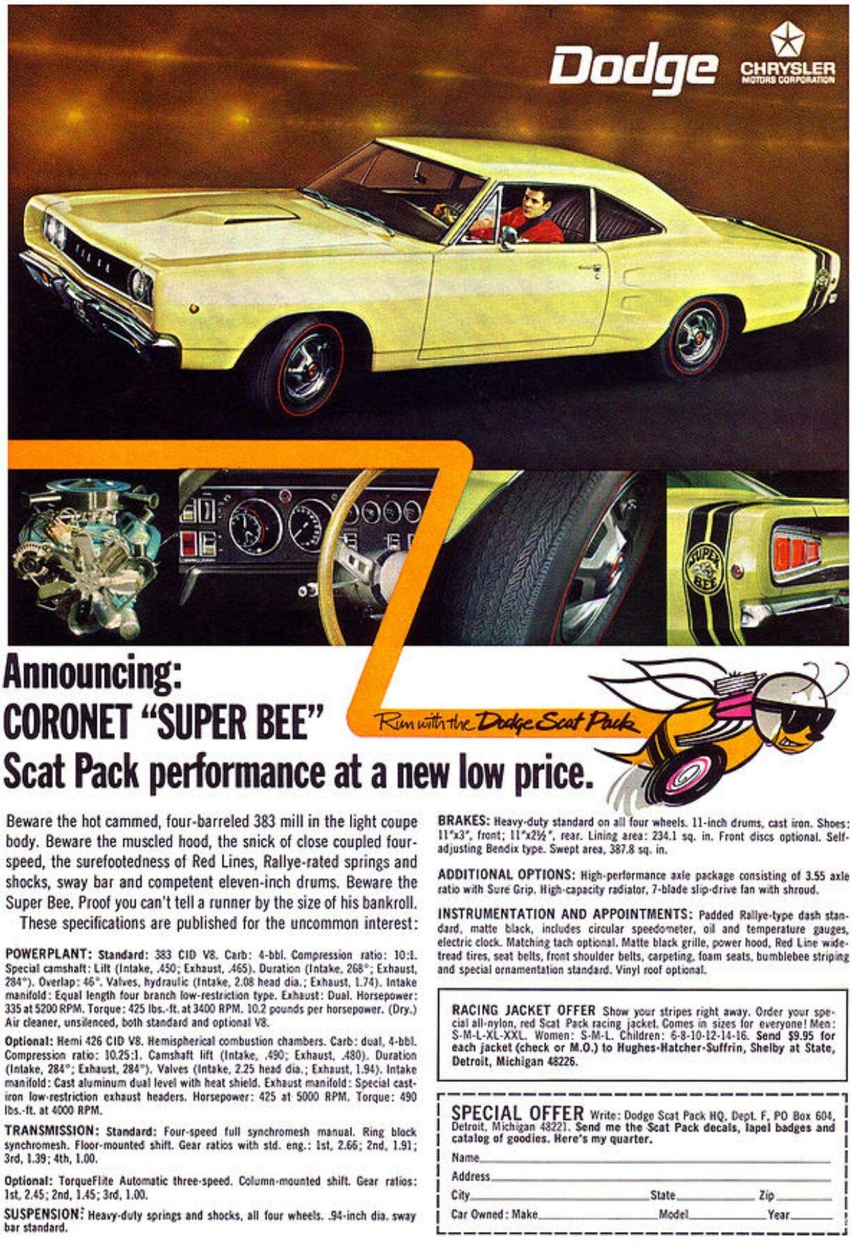 1970 Dodge Coronet Super Bee | cars-trucks-bikes | 1969