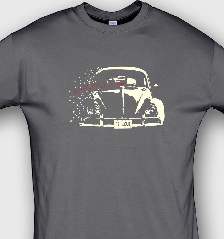 classic bug t shirt vw beetle artwork aircooler tshirt. Black Bedroom Furniture Sets. Home Design Ideas