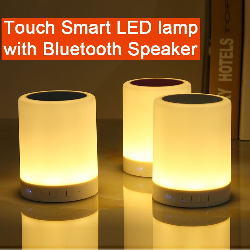 Touch Smart Led Lamp With Bluetooth Speaker Touch Lamp Desk Light Speaker