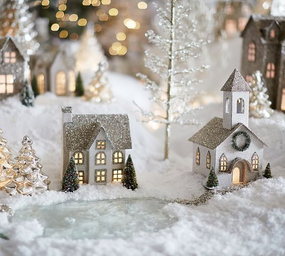Christmas Village Decorations Ideas: German Glitter Village Benefiting Give A Little Hope