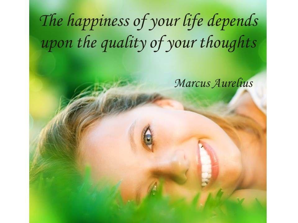 Glücklichsein ist direkt mit unseren Gedanken verbunden.