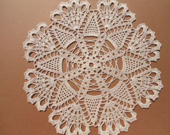 "hand crochet new cotton  doily 8/"""