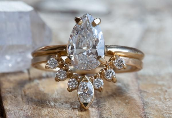 One of a Kind Vintage Old Mine Cut Diamond Engagement Ring