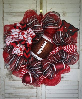 Hey, I found this really awesome Etsy listing at https://www.etsy.com/listing/452977334/high-school-football-wreath