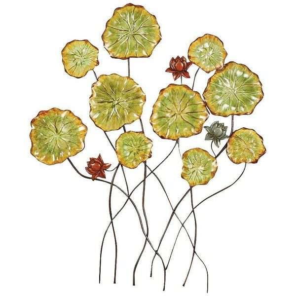 Metal Flower Wall Art Decor Fascinating Four Pcs Flowers Metal Wall ...