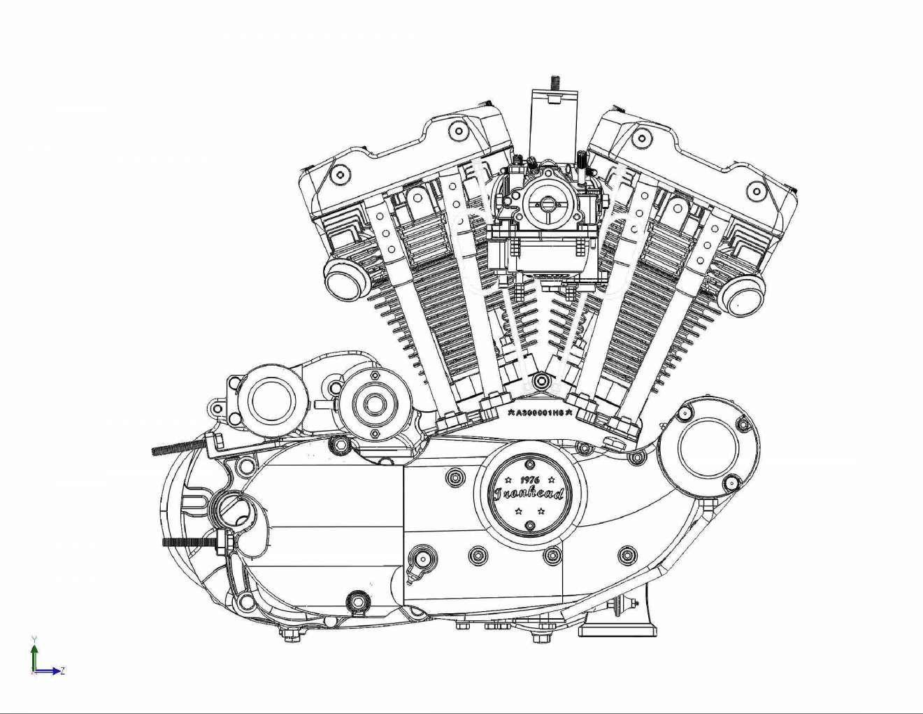Motorcycle Engine Diagram Engineering Drawings and