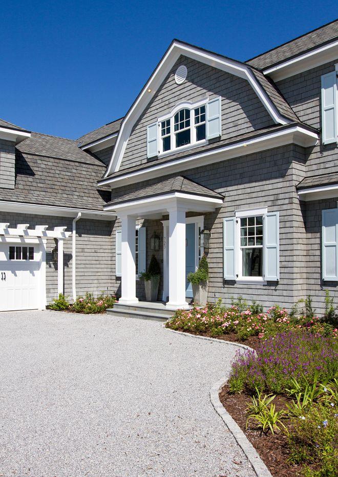 Beachfront Luxury Modern Home Exterior At Night: Shingle Style Gambrel Beach House (Home Bunch