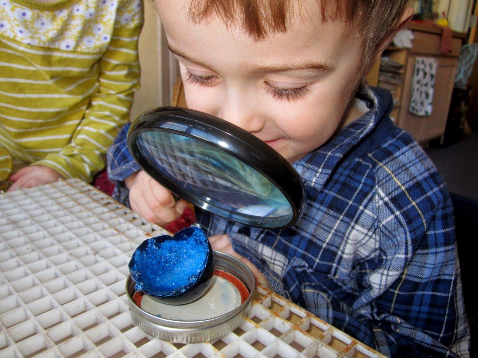 art and soul preschool: Nesting Egg Geodes Project